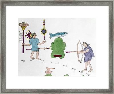 Mexico Indian Warfare Framed Print by Granger