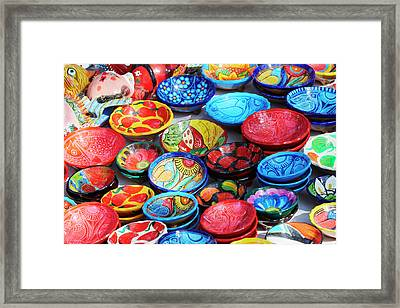 Mexico, Jalisco Bowls For Sale Framed Print