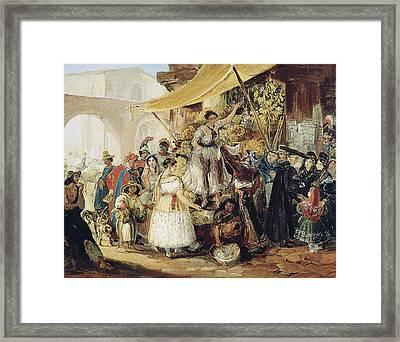Mexico Market, 1833 Framed Print