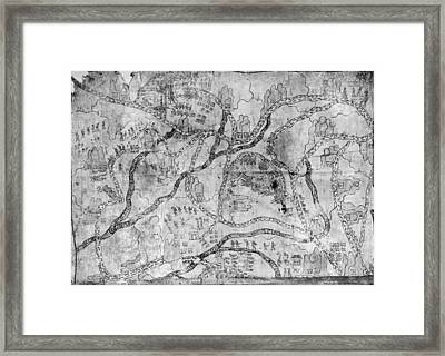 Mexico Mixtec Map Framed Print by Granger