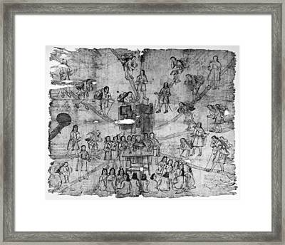 Mexico Mixtec Painting Framed Print