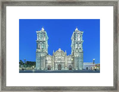 Mexico, Puebla Cathedral Completed Framed Print