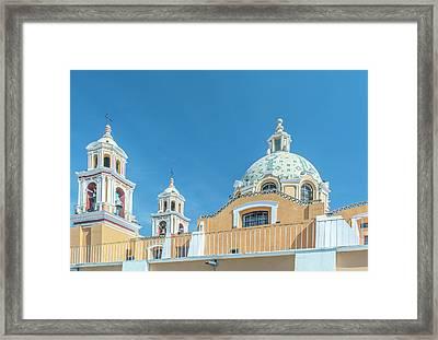 Mexico, Puebla, Cholula, Santuario De Framed Print