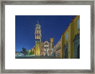 Mexico, Puebla, Church Of San Francisco Framed Print