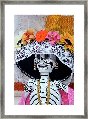 Mexico, San Miguel De Allende, Skeleton Framed Print by Jaynes Gallery