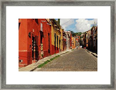 Mexico, San Miguel De Allende, View Framed Print by Anthony Asael