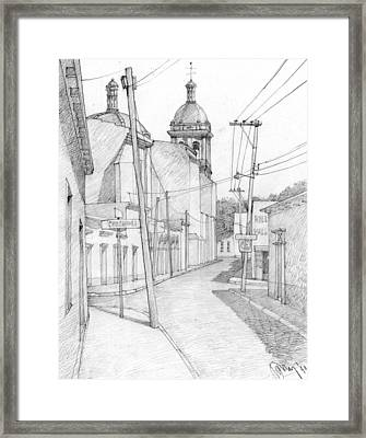 Mexico. Small Town Framed Print by Serge Yudin