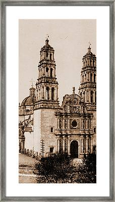 Mexico, The Cathedral, Chihuahua, Jackson, William Henry Framed Print by Litz Collection