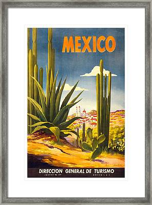 Mexico Travel Poster Framed Print