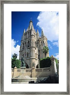 Mexico, View Of Parroquia Church San Framed Print