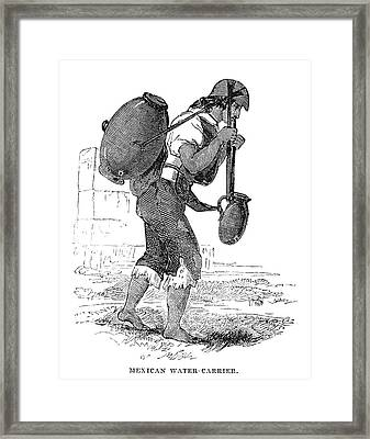 Mexico Water Carrier, 1845 Framed Print by Granger