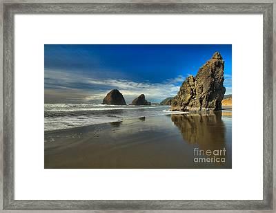 Meyers Creek Beach Framed Print