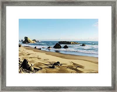 Meyers Creek Beach Oregon Framed Print by Rafael Escalios
