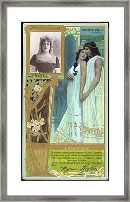 Meyrianne Heglon  French Mezzo-soprano Framed Print