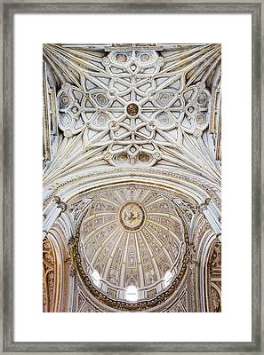 Mezquita Cathedral Ceilings In Cordoba Framed Print