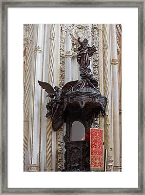 Mezquita Cathedral Pulpit In Cordoba Framed Print by Artur Bogacki