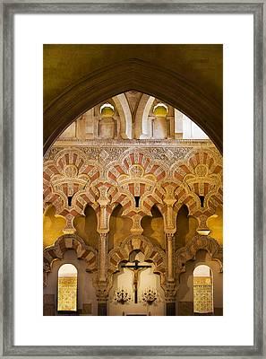 Mezquita Interior Islamic Architecture Framed Print