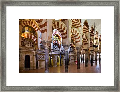 Mezquita Prayer Hall In Cordoba Framed Print by Artur Bogacki