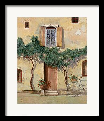 Bicycling Tuscany Framed Prints