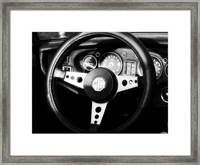 Mg Dashboard Framed Print