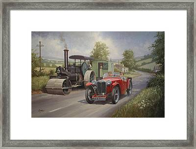 Mg Sports Car. Framed Print by Mike  Jeffries