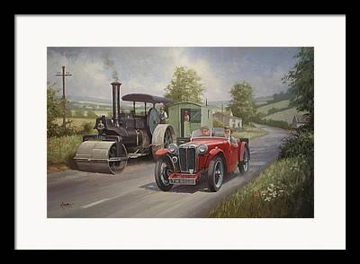 Road Roller Framed Prints