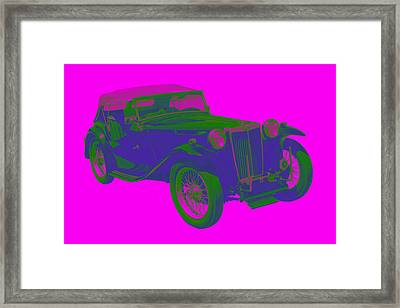 Mg Tc Antique Car Pop Image Framed Print by Keith Webber Jr