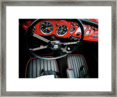 Framed Print featuring the photograph MG by Trever Miller