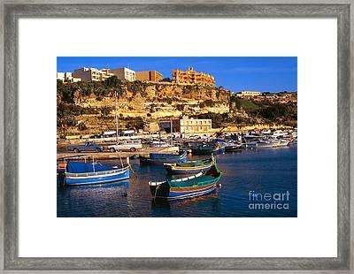 Mgarr Harbor Gozo Framed Print by Thomas R Fletcher