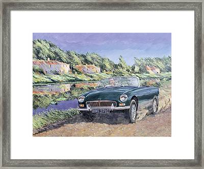 Mgb By A French Canal Framed Print by Clive Metcalfe