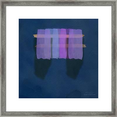 Mgl - Abstract Soft Blocks 01 I Framed Print