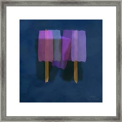 Mgl - Abstract Soft Blocks 01 II Framed Print