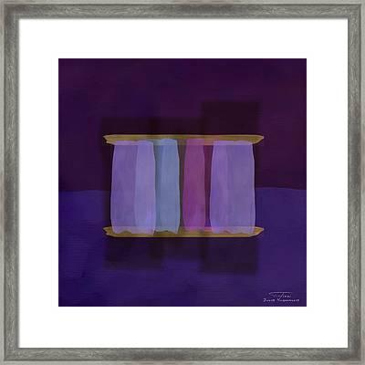 Mgl - Abstract Soft Blocks 02 I Framed Print
