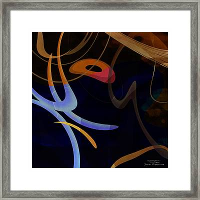 Mgl - Abstract Twirl 03 Framed Print