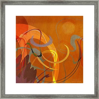 Mgl - Abstract Twirl 05 Framed Print by Joost Hogervorst