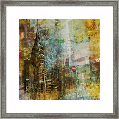 Mgl - City Collage - New York 04 Framed Print by Joost Hogervorst