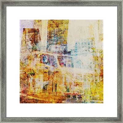 Mgl - City Collage - New York 07 Framed Print