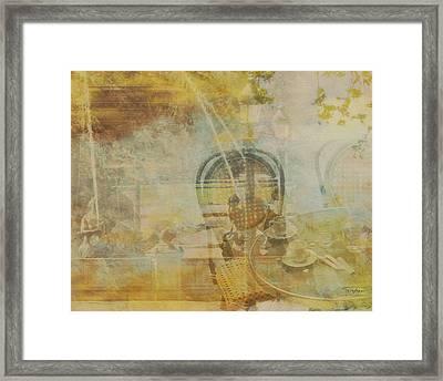 Mgl - City Collage - Paris 02 Framed Print