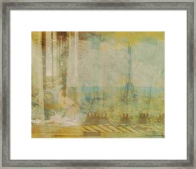 Mgl - City Collage - Paris 04 Framed Print