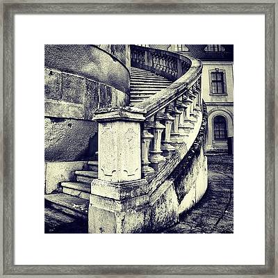 #mgmarts #architecture #castle #steps Framed Print by Marianna Mills