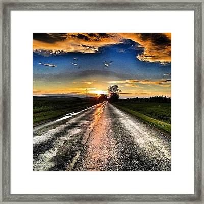 #mgmarts #driving #lonely #instamood Framed Print by Marianna Mills