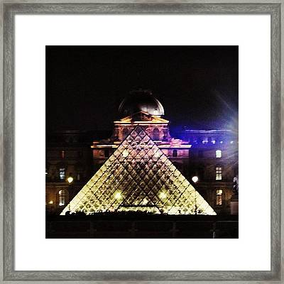 #mgmarts #louvre #paris #france #europe Framed Print by Marianna Mills