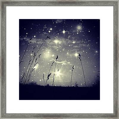 #mgmarts #mysky #wish #life #simple Framed Print by Marianna Mills