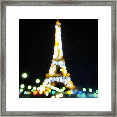 #mgmarts #paris #france #europe #eiffel Framed Print by Marianna Mills