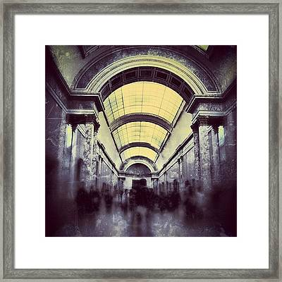#mgmarts #paris #france #europe #louvre Framed Print