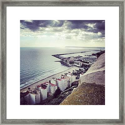 #mgmarts #spain #seaside #sea #view Framed Print