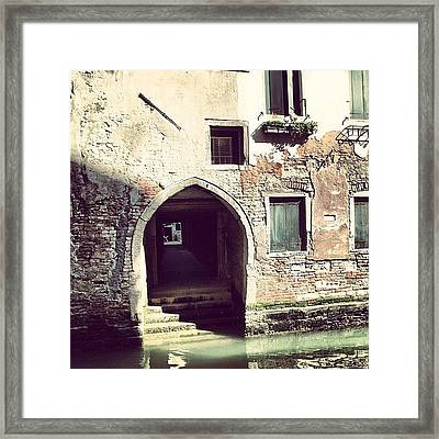 #mgmarts #venice #italy #europe Framed Print by Marianna Mills