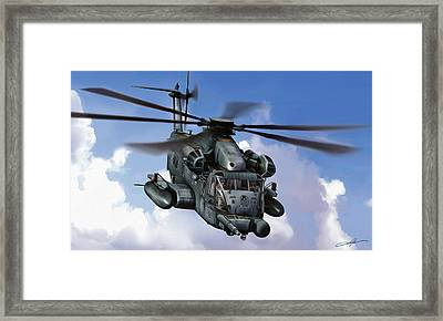 Mh-53j Pavelow IIi Framed Print by Dale Jackson