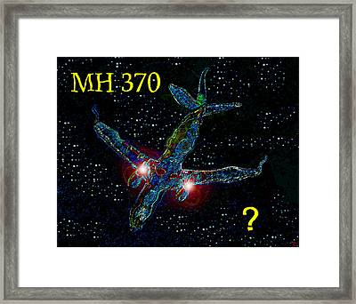 Mh 370 Mystery Framed Print by David Lee Thompson