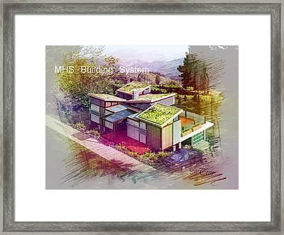 Mhs Prefab House Framed Print